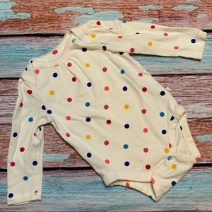 Baby Gap Polka Dot Long Sleeve Onesie Bodysuit